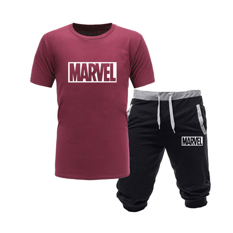HTB1gz8nLkvoK1RjSZPfq6xPKFXah 2019 cotton T Shirts+Shorts men sets Brand clothing Two pieces tracksuit Fashion Casual Tshirts Workout Fitness Sets S XXL