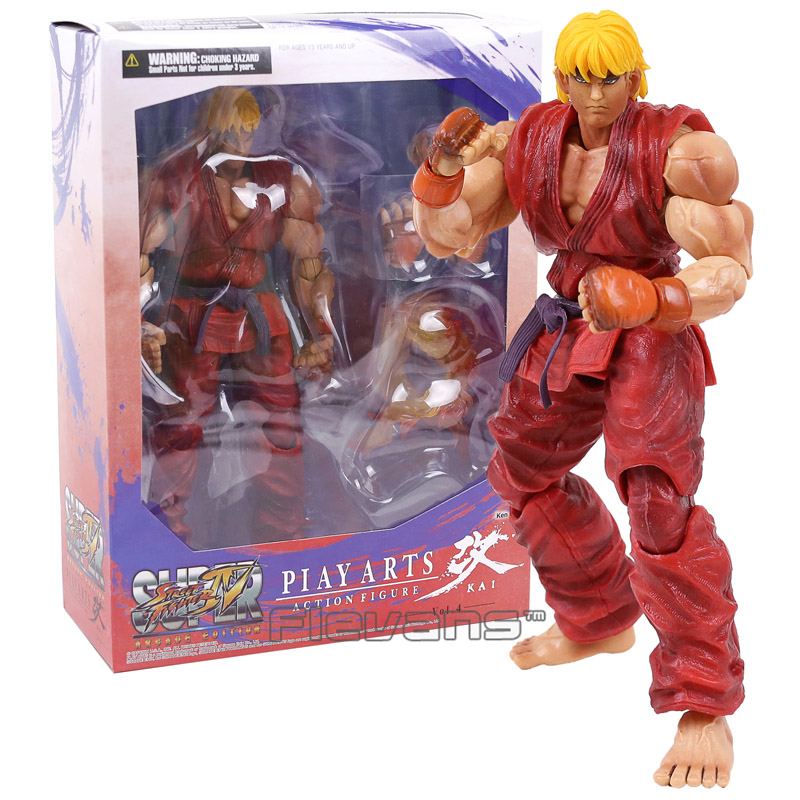 PLAY ARTS KAI Street Fighter IV 4 Ken PVC Action Figure Collectible Model Toy 25cm play arts kai street fighter iv 4 ryu pvc action figure collectible model toy