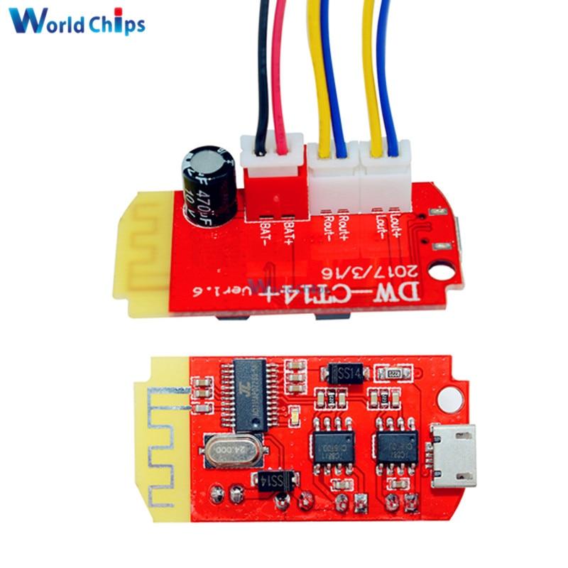 DC 3.7V 5V 3W Digital Audio Amplifier Board Double Dual Plate DIY Bluetooth Speaker Modification Sound Music Module Micro USB
