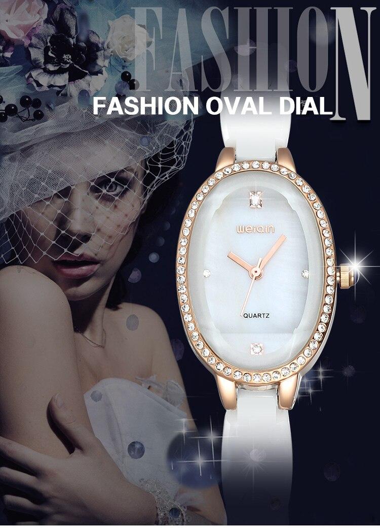 quartzo senhoras pulseira relógio presente das senhoras