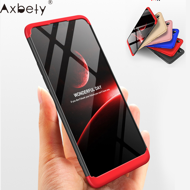 AXBETY For oppo a5 a3 s Case Fashion 360 Full Body case For OPPO a3s Hard Hybrid Plastic Protection Cover sFor OPPO a3 case