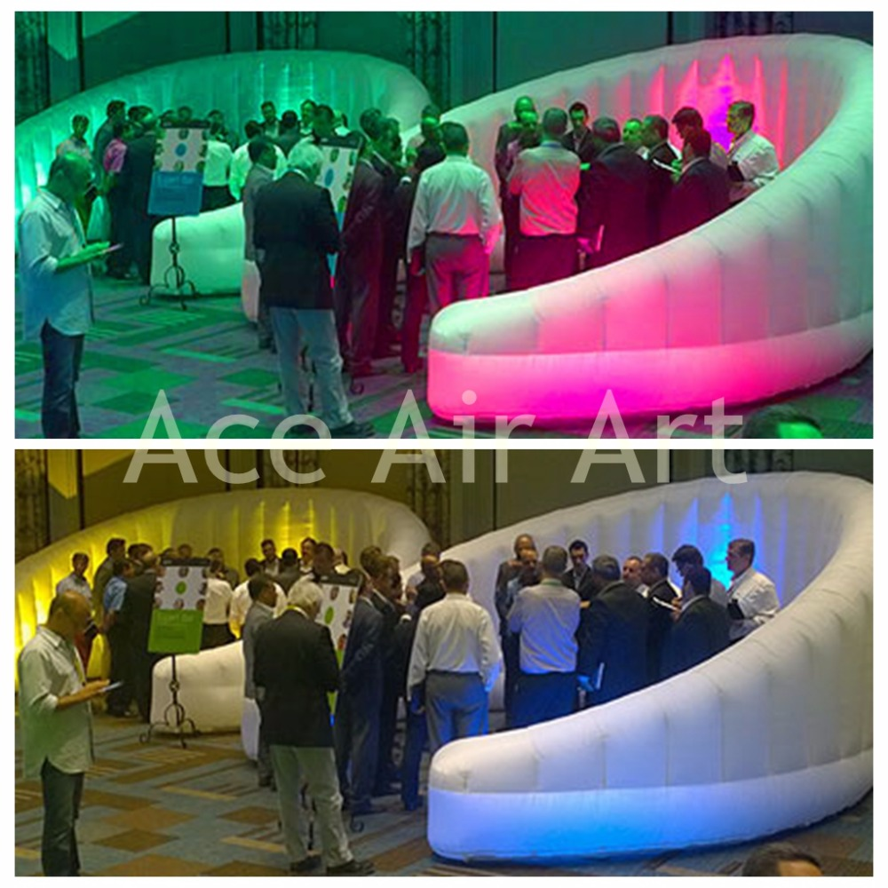 New Style multi-color rgb round inflatable Led Wall for Event ,Meeting,exhibition