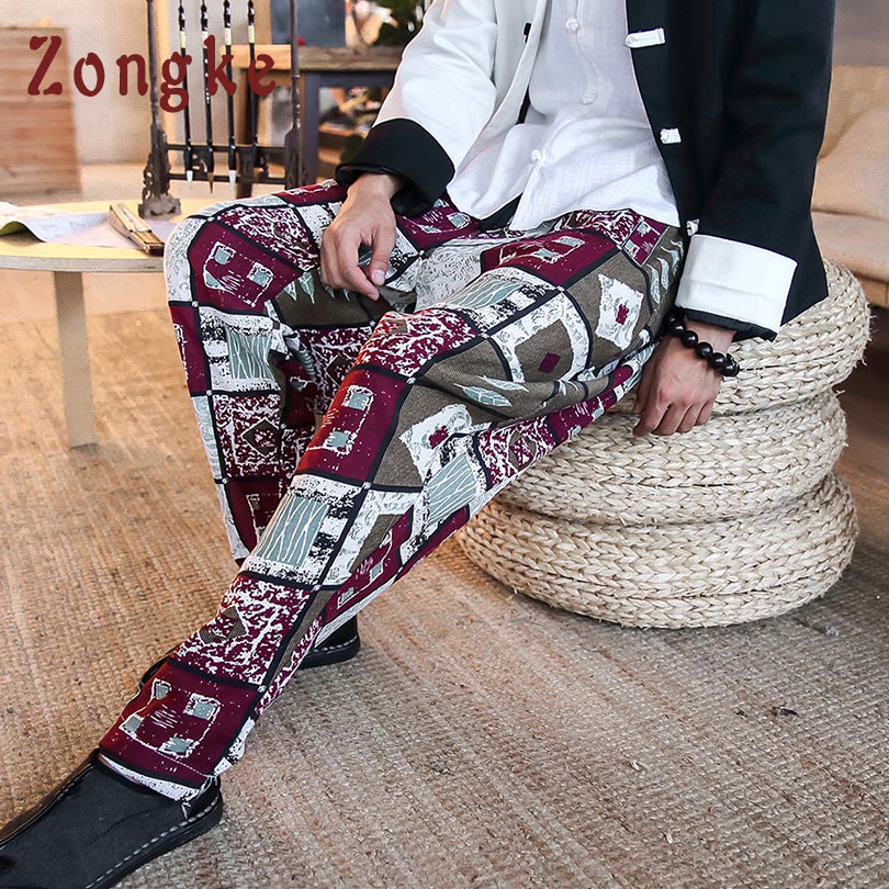 Smart Zongke Chinese National Style Ankle-length Streetwear Casual Pants Men Hip Hop Trousers Men Pants Joggers Harem Pants Men 2019 Pants