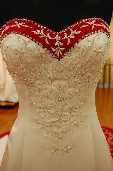 New vestido de noiva Sweetheart Embroidery Satin A Line Ivory and Red Bridal Gown Custom Size 2018 mother of the bride dresses in Mother of the Bride Dresses from Weddings Events