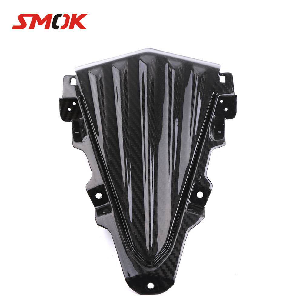 SMOK Motorcycle Carbon Fiber Wind Deflector Windscreen Windshield Headlight Fairing Kits Cover For Yamaha T max 530 Tmax 530 for yamaha t max 530 tmax t max 530 12 16 carbon fiber front fender splash mud dust guard mudguard protection