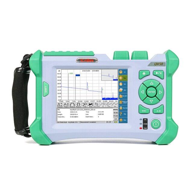 KOMSHINE QX50 MS 850/1310/1550nm, 21/30/28dB High Dynamic Range OTDR เมตรสำหรับ SM และ MM เส้นใย