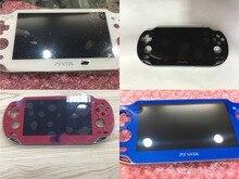 Schwarz/weiß/blau/rot original für ps vita für psvita psv 1000 lcd display mit touch screen digital mit rahmen und schützen film