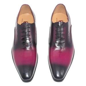 Image 4 - Daniel virea สีม่วง Handmade อย่างเป็นทางการสำนักงานธุรกิจรองเท้า Mens งานปาร์ตี้และงานแต่งงานหนังผู้ชาย oxfords รองเท้า