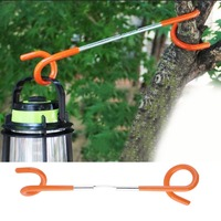 2019 New2 Way Lantern Light Lamp Hanger Tent Pole Post Hook Outdoor Camping Fishing New Arrival