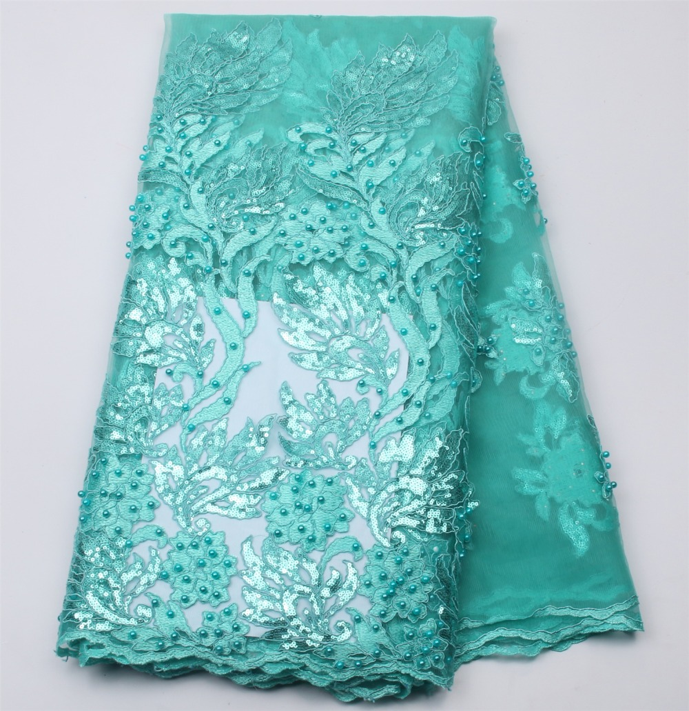 2016 African French Lace Fabric High Quality African Tulle Lace Fabric For Wedding Beaded French Lace Fabric In Teal Color.2016 African French Lace Fabric High Quality African Tulle Lace Fabric For Wedding Beaded French Lace Fabric In Teal Color.