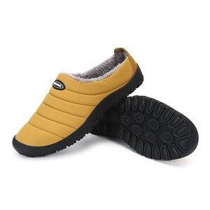 Image 3 - Winter Men Shoes Warm Plush Slippers Men Outdoor Indoor Home Shoes Unisex Flip Flops Non slip Slides Casual Mule chanclas hombre
