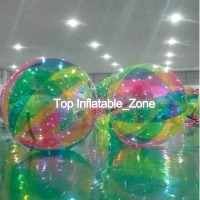 Free Shipping Water Zorb Ball 2.0m Dia Inflatable Water Walking Ball Human Hamster Ball Giant Inflatable Ball