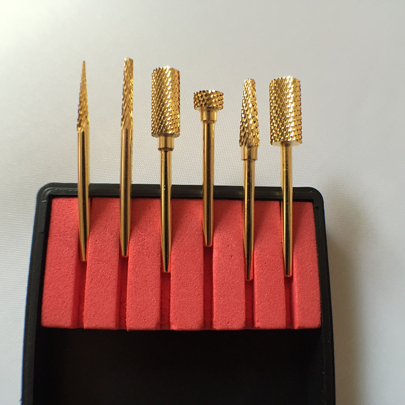 6PCS/Set High quality Nail Drill Bit new nail art salon tools electric drill carbide nail file drill bit for nail drill high quality electric impact drill tungsten steel bit cement wall high hardness drill construction drill 5pcs pack 4 10mm set
