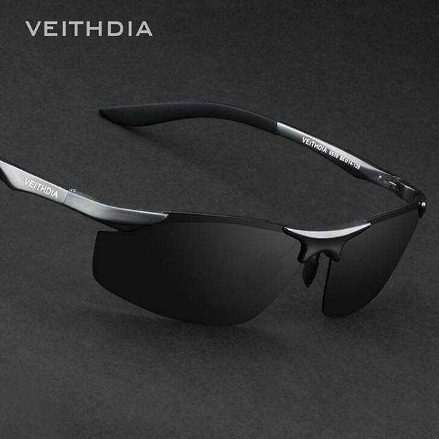 47a4954e257c6 placeholder VEITHDIA Marca Designer Dos Homens Sem Aro de Alumínio Lente Polarizada  Óculos De Sol Masculino