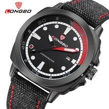 LONGBO Lujo Hombres de Cuero Genuino Reloj de Cuarzo de Los Deportes Relojes Para Hombres Hombres Ocio Reloj Reloj Militar Del Relogio masculino 80194