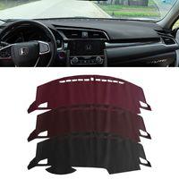 Hot 1pcs New Car Dashboard Carpet Mat Non Slip Sun Shade Cover Pad For Honda Civic 10th Anti Reflective Decoration