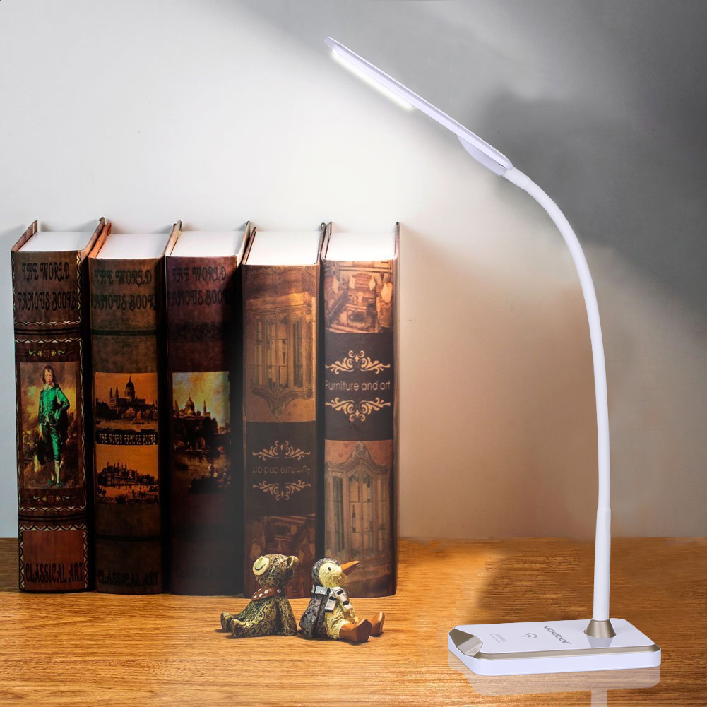 Table lamps gt battery led wireless lamp wireless usb by kartell - Vodool Led Desk Lamp With Smartphone Wireless Charging Station Usb Rechargeable Touch Switch Dimmable Desk Lamps