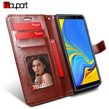 Case For Samsung A7 2018 SM-A750 Leather Cover Photo Frame Book Style Wallet Flip Cases For Samsung Galaxy A7 2018 Case A750(China)