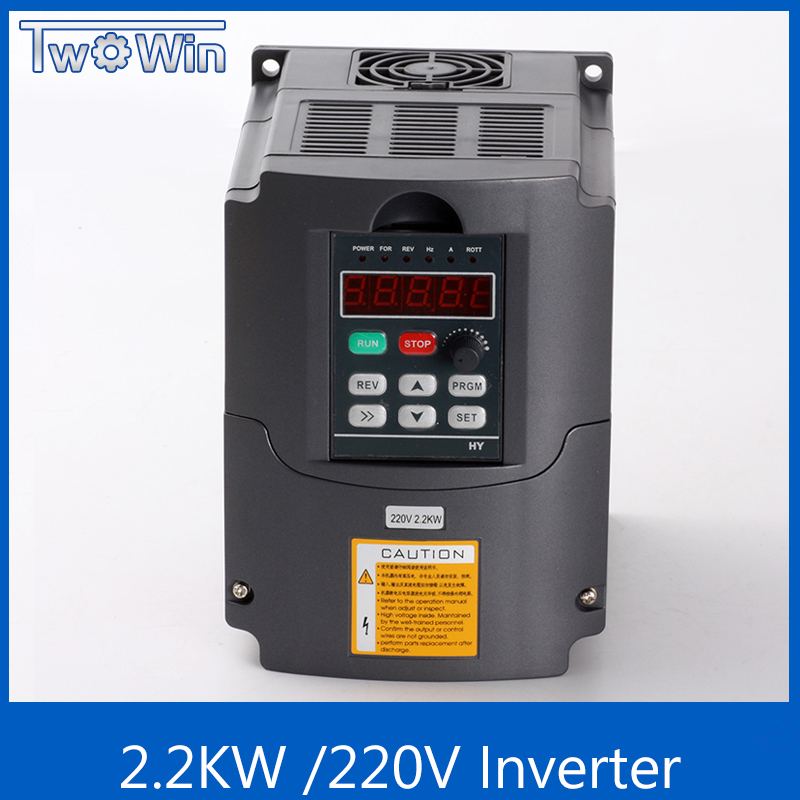 CNC Spindle motor speed control 220v 2 2kw VFD Variable Frequency Drive VFD 1HP or 3HP