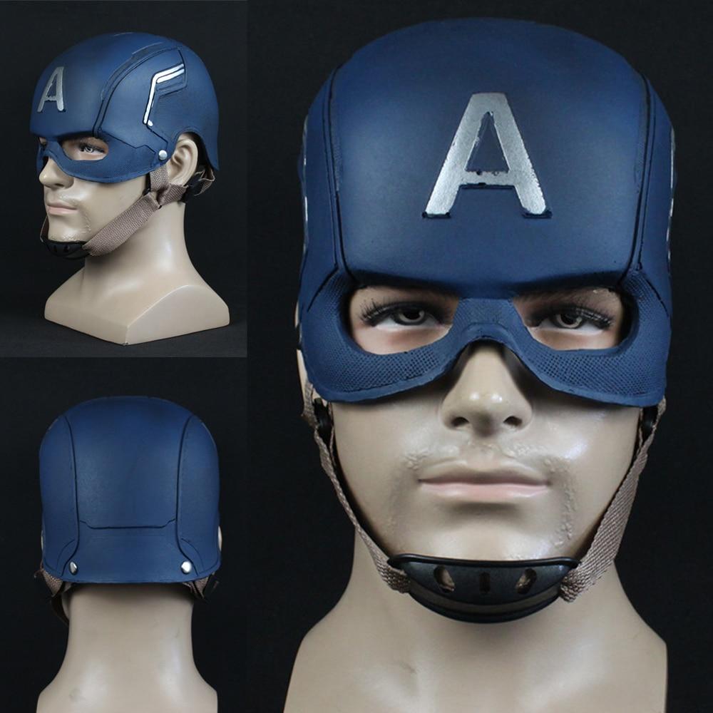 Captain America Latex Mask Cosplay Avengers Infinity War Mask Halloween Helmet