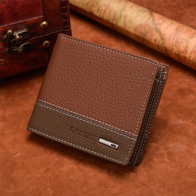 Portefeuille Homme Avec Porte Monnaie Marron 4