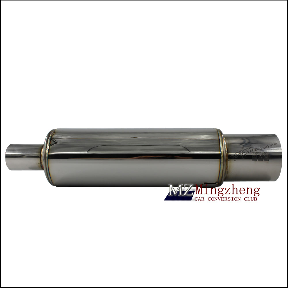 Car Exhaust System Muffler Length 500mm Input 51mm-89mm 304Stainless Steel Exhaust Pipe Low Sound Sound Tailpipe