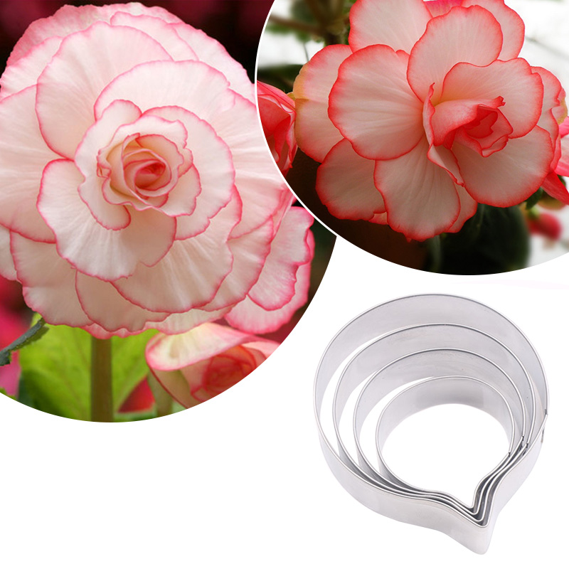 Hot Stainless Steel <font><b>Flower</b></font> Petal Cookie <font><b>Cutter</b></font> Cupcake Mold Fondant <font><b>Cake</b></font> Mould DIY <font><b>Decor</b></font> XJS789 image