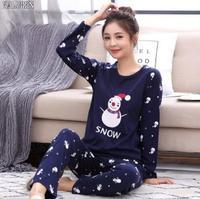 ceb1610d0 4XL Winter Pajamas Homewear Women Flannel Thick Pajamas Warm Sleepwear  Pajama Sets Women Fleece Pajama Adult
