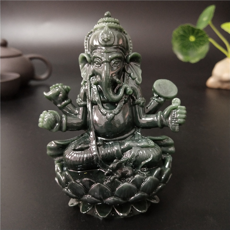 Lord Ganesha Buddha Statue Ganesh Elephant God Sculpture Hand Carved Figurines Home Decor Garden Decoration Lucky Gifts