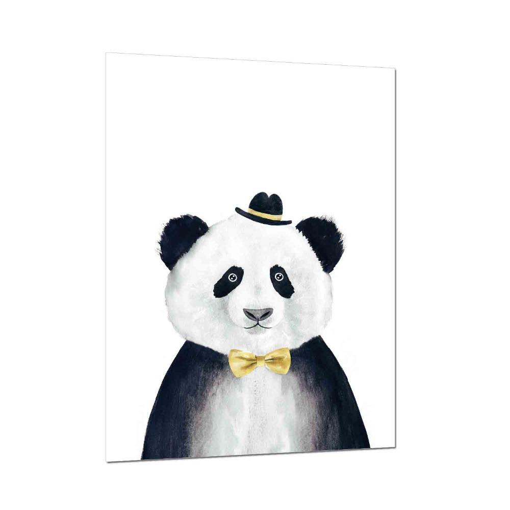 Us 381 65 Off1 Panel Nordic Lucu Kartun Kecil Hewan Panda Kanvas Seni Lukisan Poster Cetak Gambar Dinding Dekorasi Kamar Tidur Anak In Painting