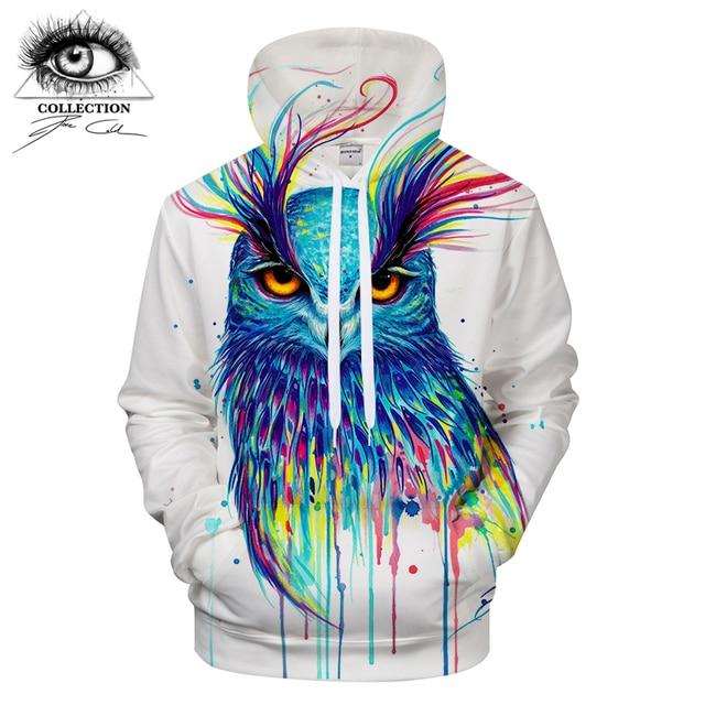 89b79666db48 Blue Owl by Pixie cold Art Owl 3D Hoodies Men Sweat Supreme Hoodie Unisex  Hooded Pullover