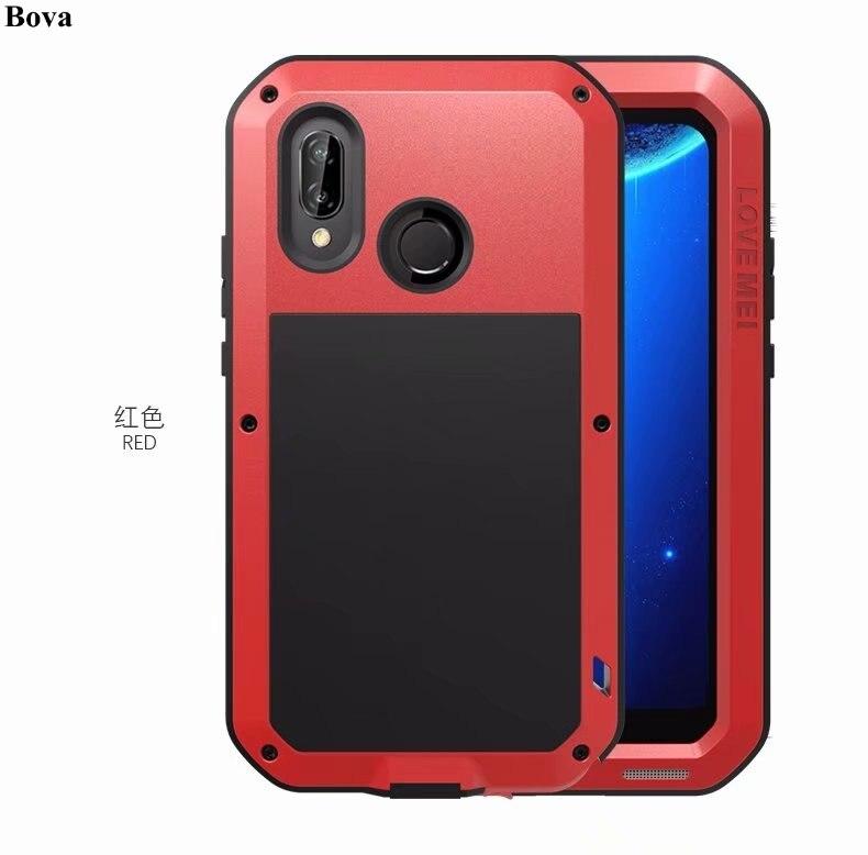 Amour origine Mei Boîtier Étanche pour Huawei P20 Lite Antichoc Robuste Cas En Métal Couvercle En Aluminium