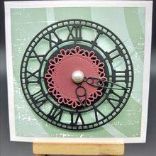 Штампы в форме часов, новинка, металлические режущие штампы для скрапбукинга, открыток, альбомов, фото, украшения, тиснение, папка