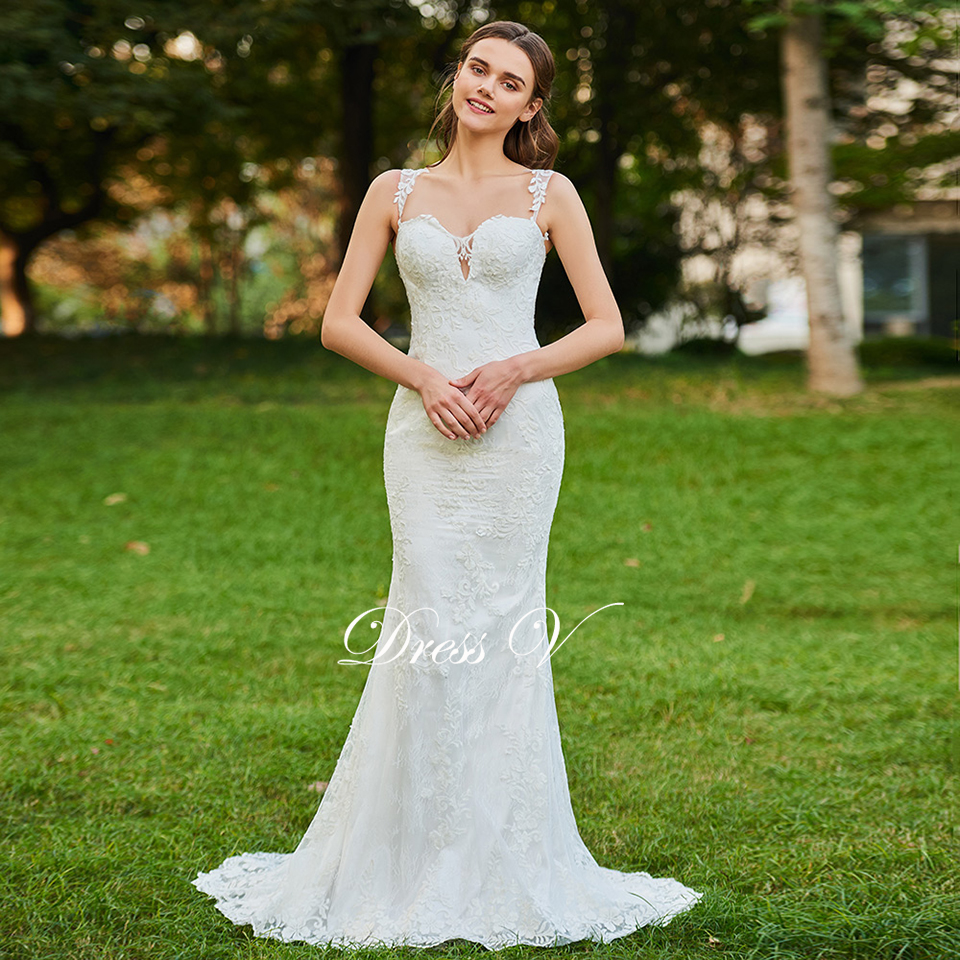 Small Crop Of Trumpet Wedding Dress