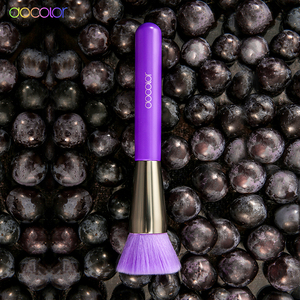Image 4 - Docolor 10Pcs Purple Makeup Brushes Synthetic Hair Professional Powder Foundation blush eye Blending Contour Make up Brushes set