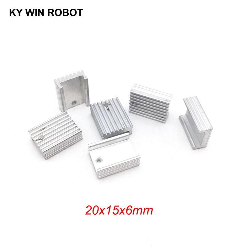 5pcs Free Shipping Aluminium U-Type TO-220 Heatsink TO 220 Heat Sink Transistor Radiator TO220 Cooler Cooling 20*15*6MM