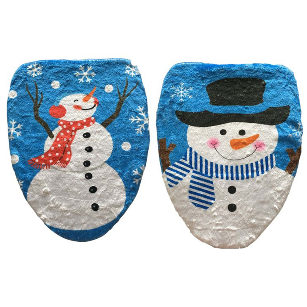 Christmas Decorations For Home Snowman Santa Claus Toilet Seat Cover Toilet lid Elf New Year Xmas Christmas Ornamets