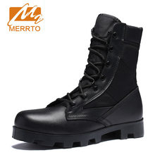 Nieuwe Ultralight Mannen Leger Laarzen Hight Cut Militaire Schoenen leer Tactical Enkellaarsjes Jungle Laarzen Outdoor Schoenen Plus Leger Laarzen(China)