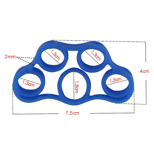 High Quality Silicone Finger Strengthener Hand Resistance Band Hand Grip Exerciser Strength Trainer Gripper NCM99 in Resistance Bands from Sports Entertainment