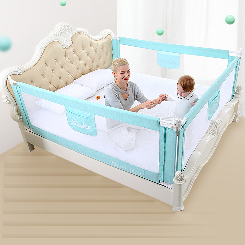 Baby Bed Fence Safety Gate Products Child Guardrail Safe Kids Playpen Children Care Barrier For Beds Crib Rails Security Fencing