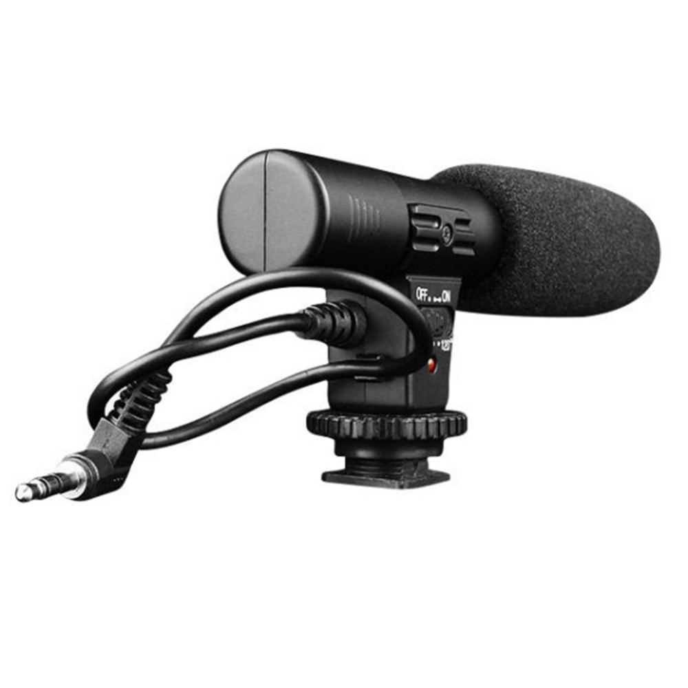 Estudio Digital Video DV estéreo grabación micrófonos 3,5mm para cámara DSLR