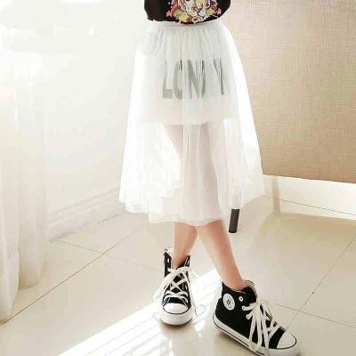 Girls Harlow Children's Garment Summer Wear New Pattern Child Gauze Leisure Time Half-body Skirt