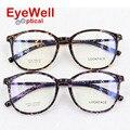 Nueva leopard ronda marco óptico TR90 anteojos recetados espectáculos estilo para mujeres 9913
