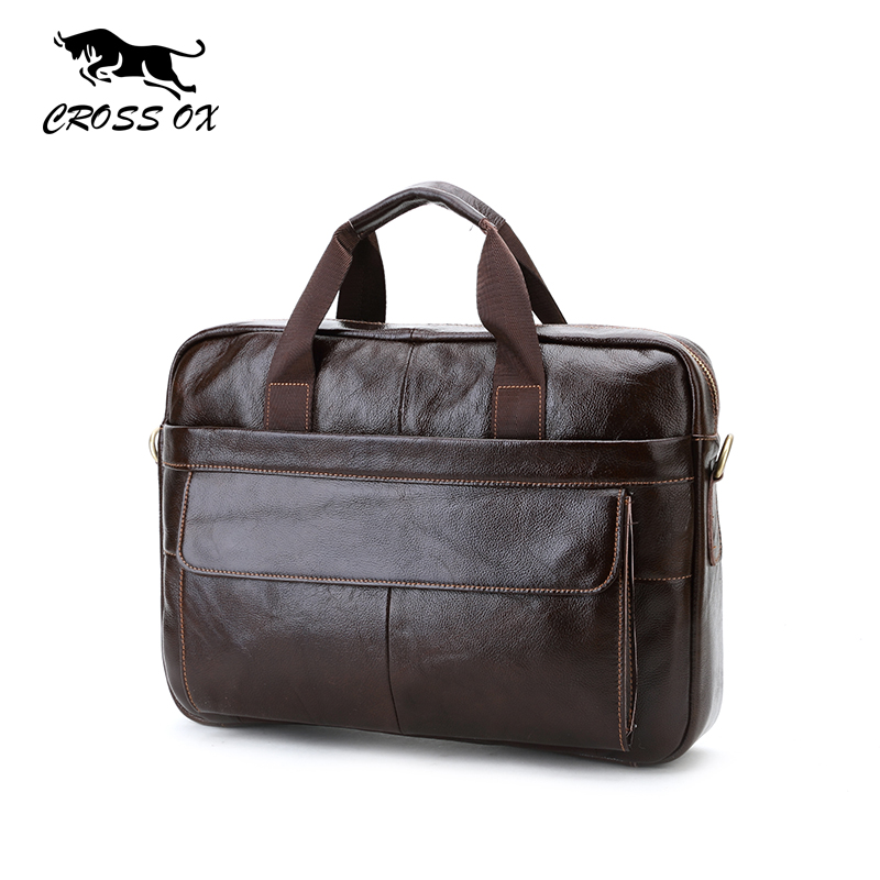 Online Shop CROSS OX Genuine Leather Mens Briefcase Laptop Bags ...