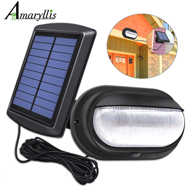 10 LEDS Solar Lamp Super Bright PIR Motion Sensor Outdoor Waterproof Solar Powered Light For Garden