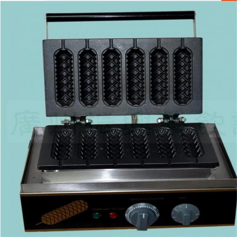 Shipping By DHL 1PC FY-119 Commercial French Muffin Machine Hot Dog Corn Shape Lolly Wafer Waffle Makers Kitchen Machine