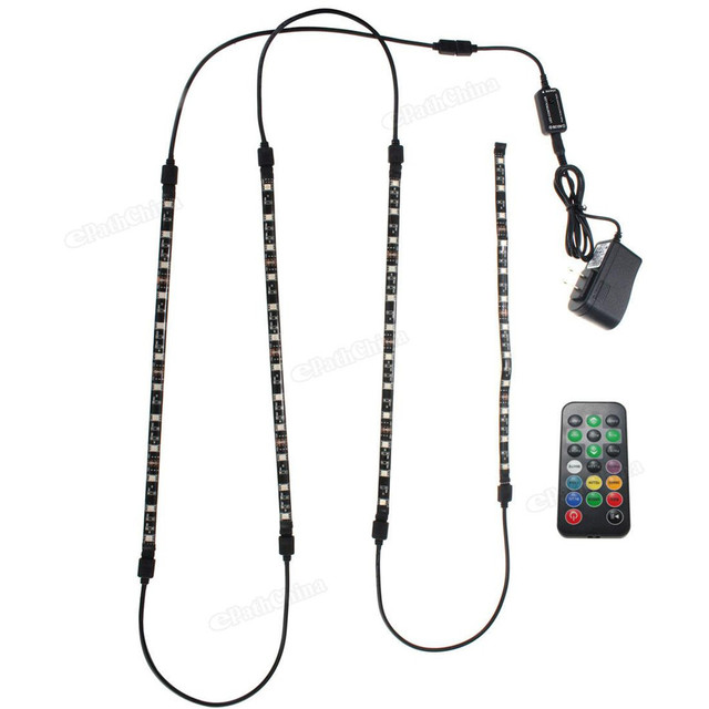 LED Lights Decoration Lights Waterproof 5050 RGB LED Light Strip Car Lamp Set Strip for Aquarium TV Decoration + 20Keys Remote