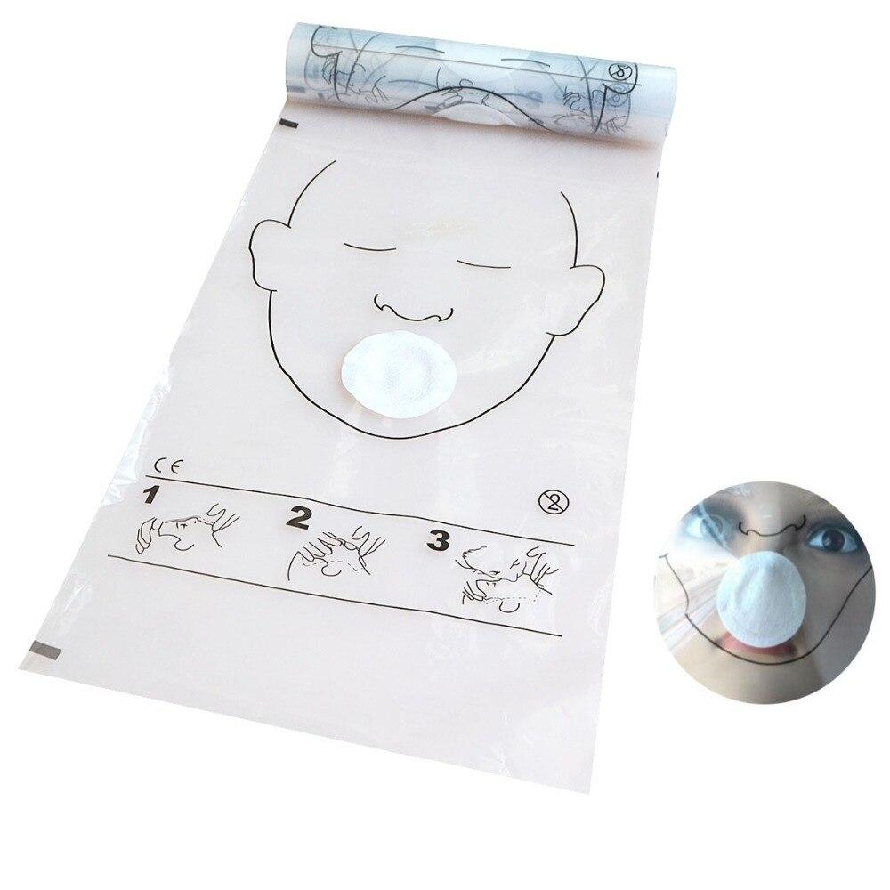 10 rouleaux/Lot rouleau de masque rcr pour l'entraînement rcr (36 pièces/rouleau) rouleau de bouclier de réanimation cardiopulmonaire sans Valve pour les premiers soins