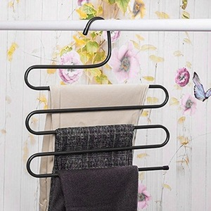 Multifunction Metal Magic Pants Hanger Space Saver Rack Jeans Scarf Tie Closet Tool Remove Slacks Quickly And Efficiently