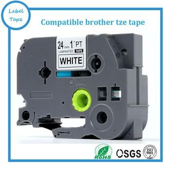 Mix TZe251,TZe-451,TZe-551,TZe151,TZe651, tz751 Compatible Ptouch tze tape 12mm label tape for P touch tape brother label maker фото